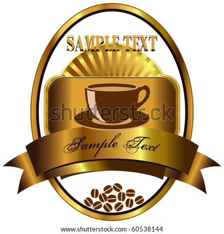 Label for coffee 2 - stock vector