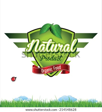 Label for organic product - stock vector
