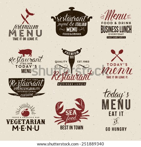 Label for restaurant and cafe - stock vector
