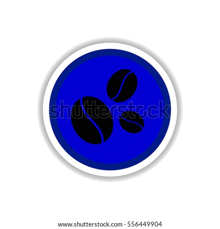 Label Frames and badges vector icon design collection coffee emblem sign of coffee beans