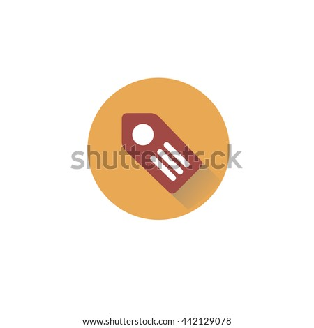 Label icon illustration - stock vector - stock vector