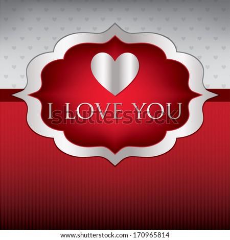 Label love heart card/invitation in vector format. - stock vector