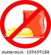 label - no Potato Crisp - stock vector
