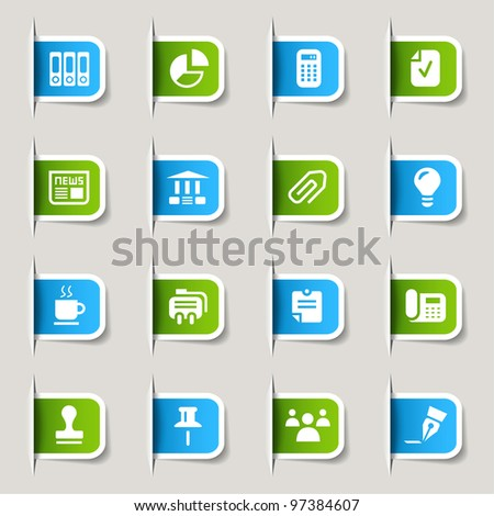 Label - Office and Business icons - stock vector