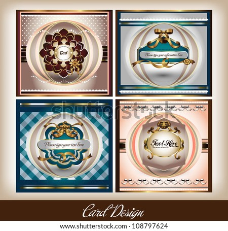 label or card design - stock vector