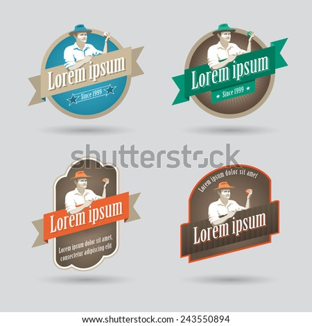 Label or logo for fruit based products - stock vector