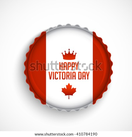 Label or stamp of Victoria Day. - stock vector