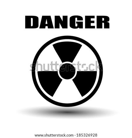 Label radiation hazard - stock vector