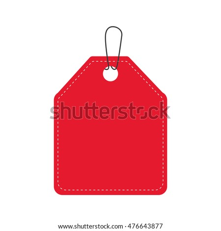 label red banner sale icon. Isolated and flat illustration. Vector graphic