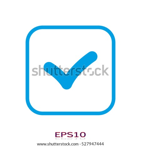 label selection, vector icon, eps10