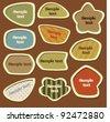 Label set - earth tones - stock vector
