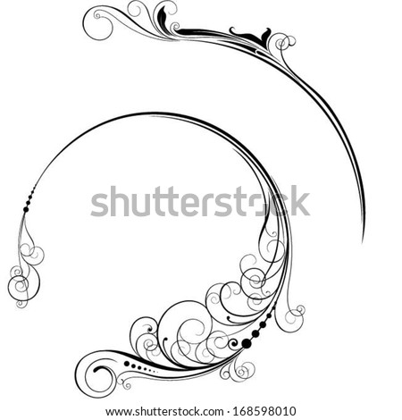 Label sign ornament - stock vector