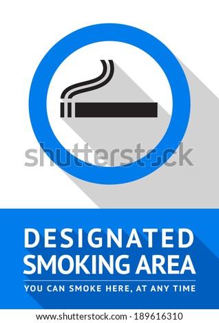 Label smoking area label, vector illustration - stock vector