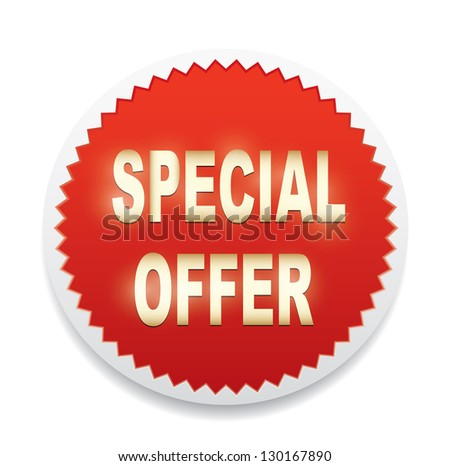 Label - Special offer. Vector