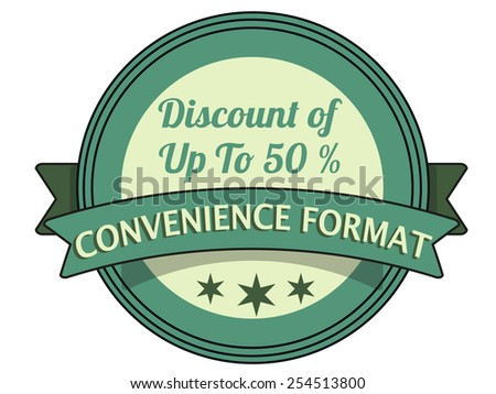 label stamp with text convenience format on vector illustration