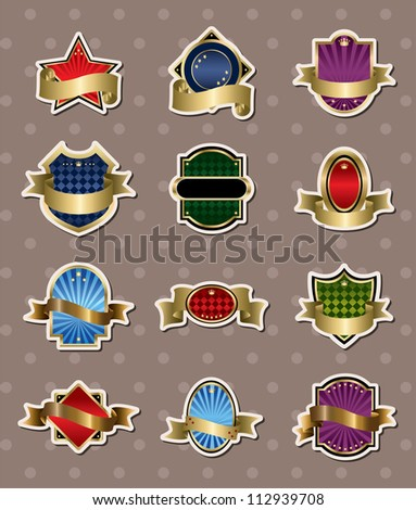 label stickers - stock vector
