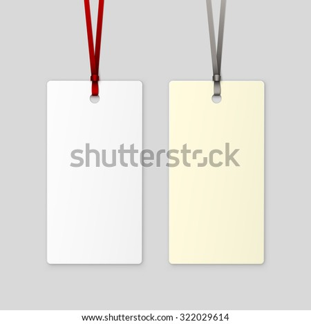 Label Tag Ribbon Vector Isolated