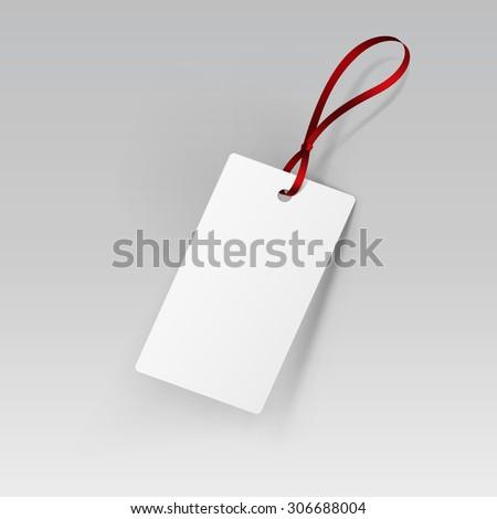 Label Tag Ribbon White Vector Isolated - stock vector