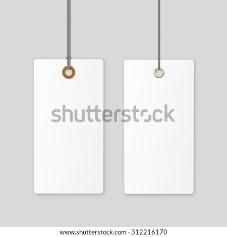 Label Tag White Vector Isolated - stock vector