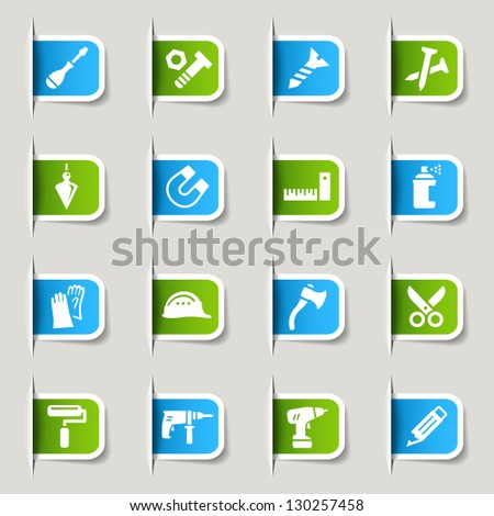 Label - Tools and Construction icons