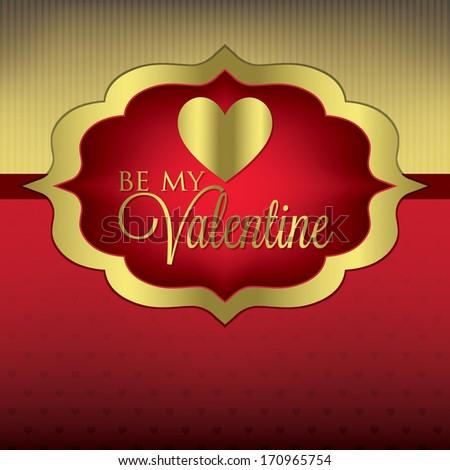 Label Valentine's Day heart card/invitation in vector format. - stock vector