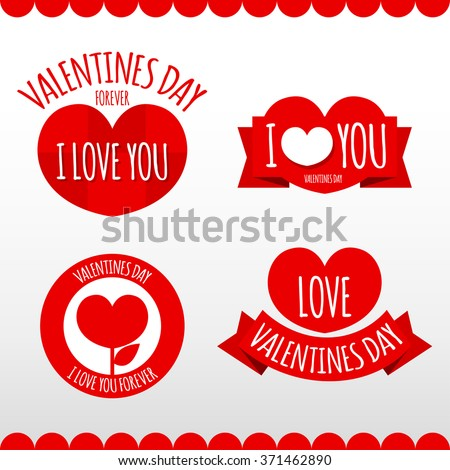 Label Valentines Day Vector.
