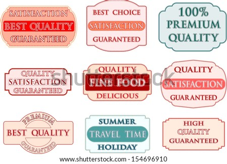 Label vector set - stock vector