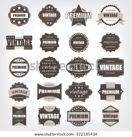 Label vintage set template.