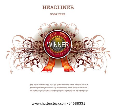 label winner - stock vector