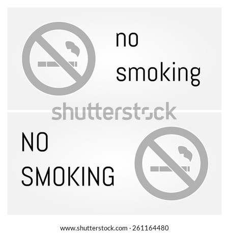 label with cigarette and no smoking text