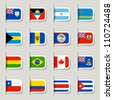 Label - World Flags - stock photo