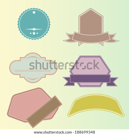 labels - stock vector