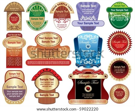 labels - stock vector
