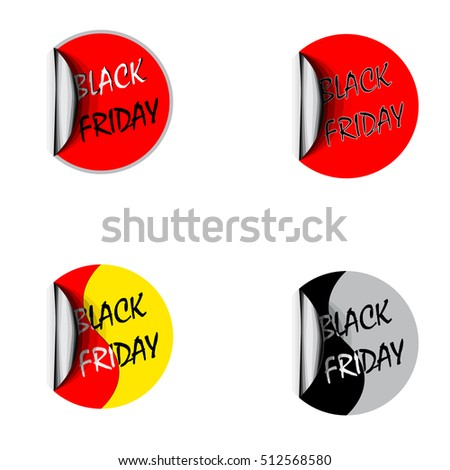 Labels badges and stickers with the inscription Black Friday