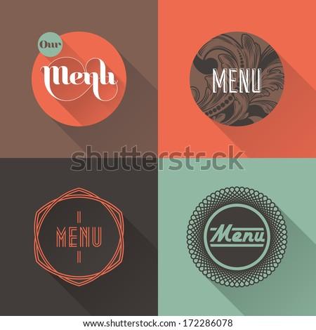 Labels for restaurant menu design - stock vector