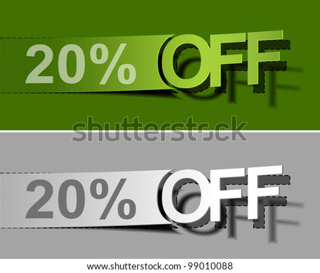 Labels for special offers and sales discount - stock vector