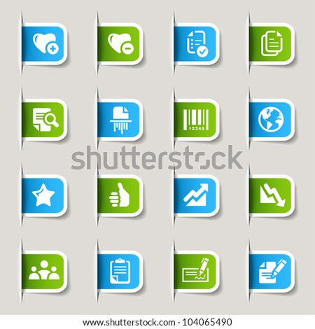 Labels - Office and Business icons - stock vector