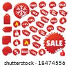 Labels Set. Easy To Edit Vector. - stock vector