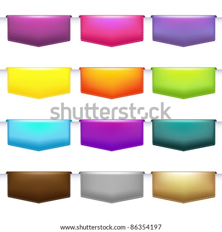 Labels Set, Isolated On White Background, Vector Illustration - stock vector