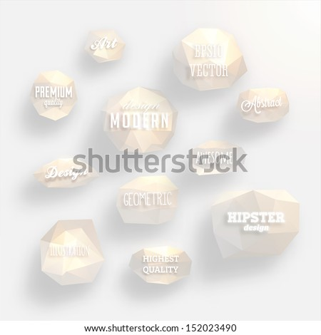 Labels vector set, modern style. Abstract white design bubbles collection, vector. - stock vector