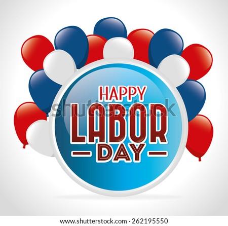 Labor day card design, vector illustration. - stock vector