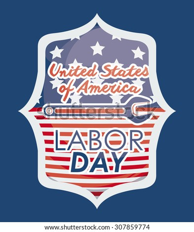 Labor day label stock vector 59404300 shutterstock for Same day custom t shirts nyc