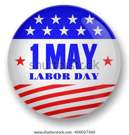 Labor Day, First may USA design icon
