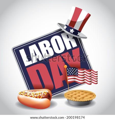 Labor Day icon. EPS 10 vector. - stock vector