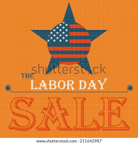 Labor day sale American sign