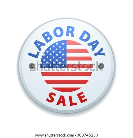 Labor Day Sale button - stock vector