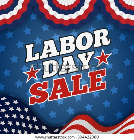 Labor day sale promotion advertising banner design. American labor day wallpaper | Vector illustration - stock vector