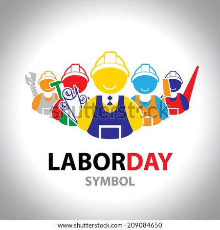 Labor symbol icon. Vector design. Labor day concept - stock vector