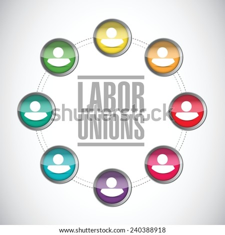 labor unions diversity illustration design over a white background - stock vector