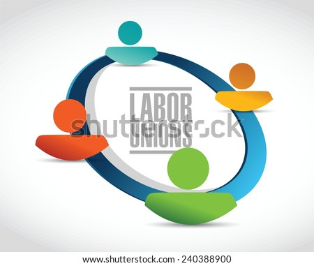 labor unions people concept illustration design over a white background - stock vector